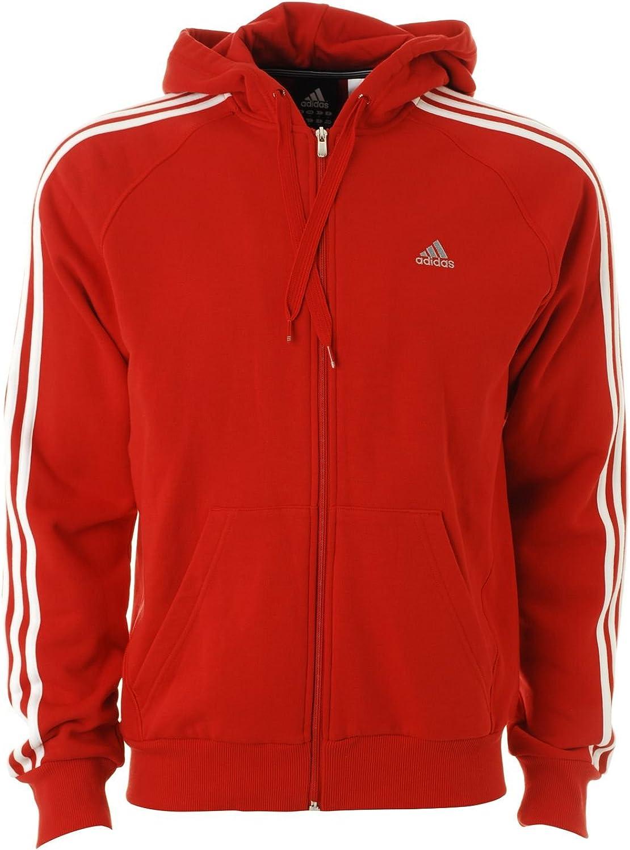 adidas Essentials – Chaqueta de chándal, e1497, color rojo/blanco, tamaño S: Amazon.es: Deportes y aire libre