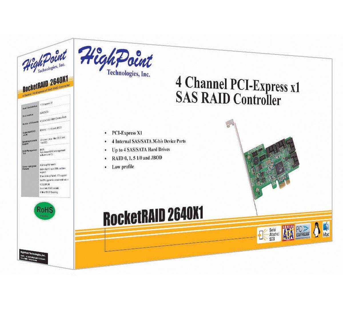 HighPoint RocketRAID 2640X1 4-Channel PCI-Express x1 SAS 3Gb/s RAID Controller by High Point (Image #2)