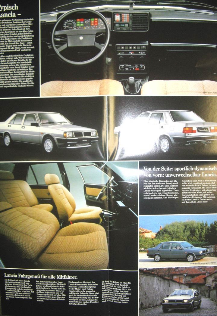 Lancia Prisma Turbo DS Brochure German: Entertainment Collectibles