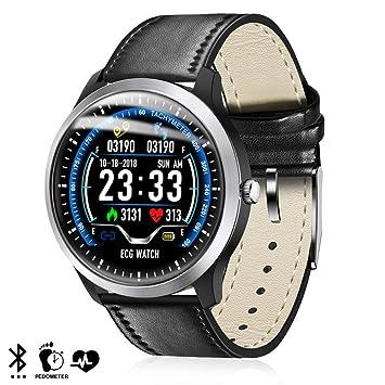 DAM. DMZ141BK. Smartwatch N58 con Monitor Cardíaco Y Notificaciones para iOS Y Android. Podómetro, Electrocardiograma. Bluetooth 4.2.
