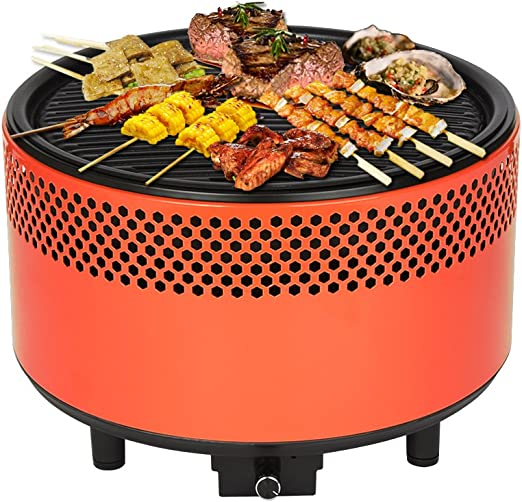 kbabe portátil barbacoa parrilla barbacoa de carbón de 304 acero inoxidable jardín y exteriores Camping- Picnic barbacoas multicolor-orange: Amazon.es: Hogar