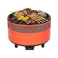 FullBerg Holzkohlegrill XL Orange Charcoal Grill Garten Camping Balkon Picknick ✔ rund ✔ tragbar rauchfrei ✔ Grillen mit Holzkohle ✔ für den Tisch