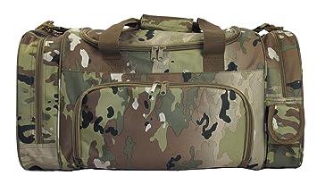 Army Military OCP Digital Camo Overnight Gym Duffel Travel Bag With Cell Phone Pocket
