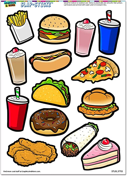 Top 10 Window Food Stickers