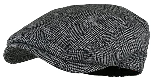 478fb087f Wonderful Fashion Men's Herringbone Wool Tweed Newsboy IVY Cabbie Driving  Hat
