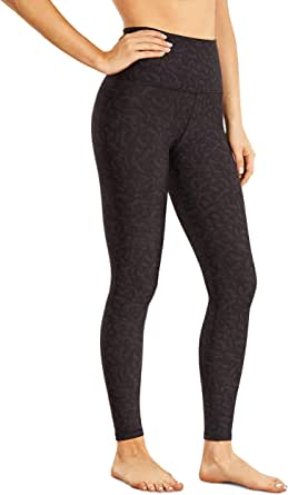 CRZ YOGA Women's Thermal Fleece Lined Leggings Winter Warm High Waist Yoga Pants Workout Tight -28 Inches