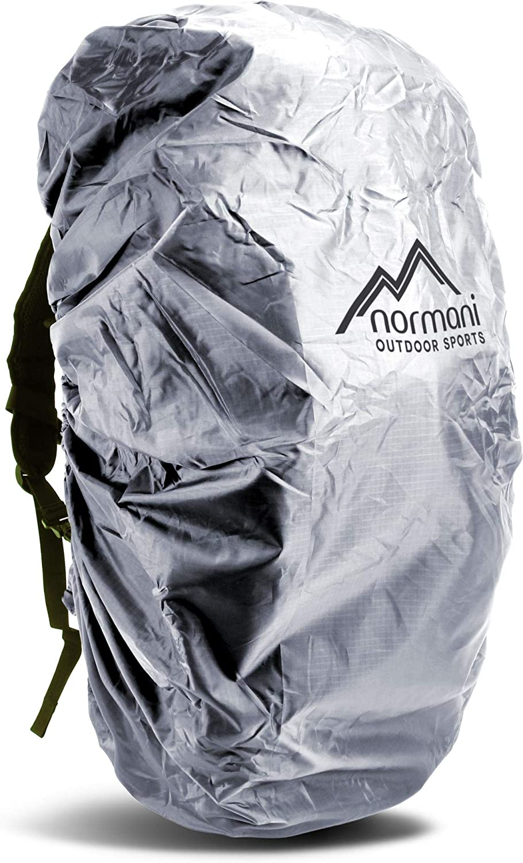 normani Wasserdichter Rucksack/überzug 6000 mm KOMPLETT Reflektierender Raincover Regenh/ülle Silber Regenschutz von 25 bis 130 Liter von Tagesrucksack bis Wanderrucksack