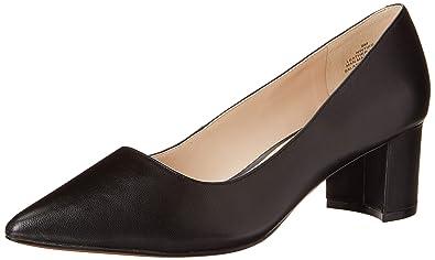 d3aa42e0824 Nine West Women s IKE Black Leather 1 9.5 ...