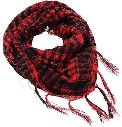 Rouge /& Noir Carreaux Tartan Léger écharpe