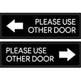 Please Use Other Door Sticker Decal Set - Self Adhesive, Peel-Off, For Offices, Stores, Businesses