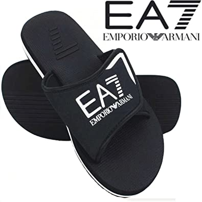 27dc7741c5e8d9 Emporio Armani Authentic EA7 Crossover EA7 Flip Flops Eagle Logo Mules  Slippers Sandals Beach Shoes: Amazon.co.uk: Shoes & Bags