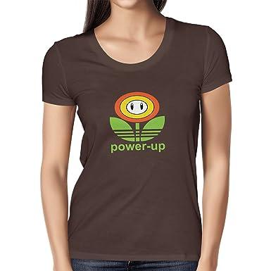 Texlab Power up - Damen T-Shirt, Größe S, Braun