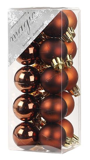 Christbaumkugeln Glas Kupfer.20 Christbaumkugeln 3cm Christmas Cookies Kupfer Kaffee