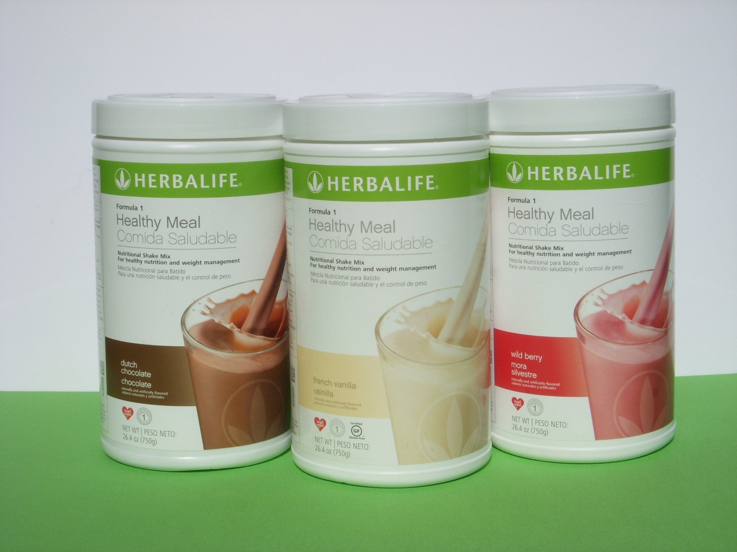 Amazon.com: 4 Nos Can of Herbalife Formula 1 Nutrition Shake Mix All Flavors :: French Vanilla, Kosher (Vanilla), Cafe Latte, Piña Colada, Cookies n Cream, ...