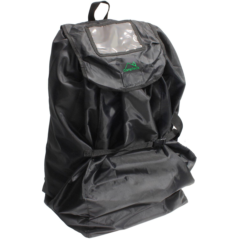 CampTeck U6854 Asiento de Coche Bolsa con Correas de Mochila Negro Poli/éster Resistente al Agua con Funda y Tarjeta de Identificaci/ón: Tr/ánsito Control de Seguridad 83 x 43cm Seguridad de Viaje