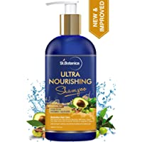 StBotanica Ultra Nourishing Hair Shampoo - 300ml For Dry, Normal Hair - No SLS/Sulphate, No Parabens, No Silicon (New & Improved)