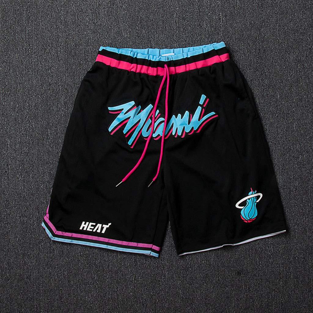Pantaloncini Palestra Uomo per Asciugatura Rapida Pantaloncini da Fitness Adatti A Tutti Gli Sport Miami Heat Dwyane Tyrone Wade Shorts Pallacanestro Uomo
