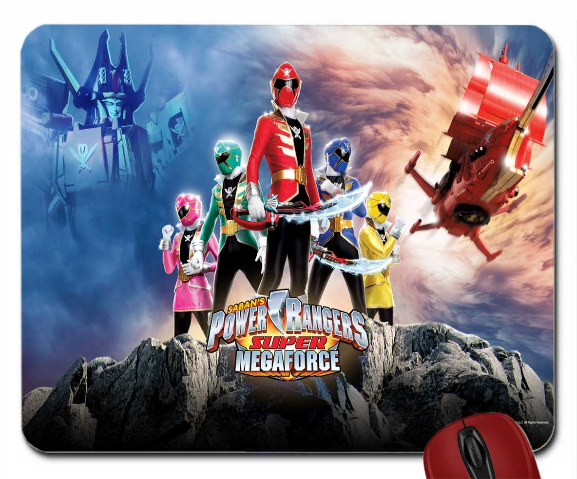Sabans Power Rangers Super Megaforce Wallpaper Mouse Amazon Co Uk