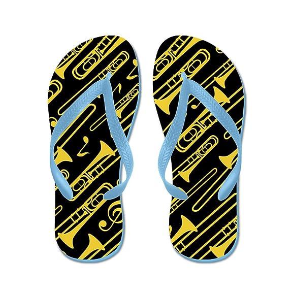 Trombone Band Music - Flip Flops Funny Thong Sandals Beach Sandals