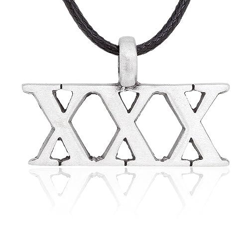Amazon dans jewelers triple x xxx pendant necklace fine dans jewelers triple quotxquot xxx pendant necklace aloadofball Gallery