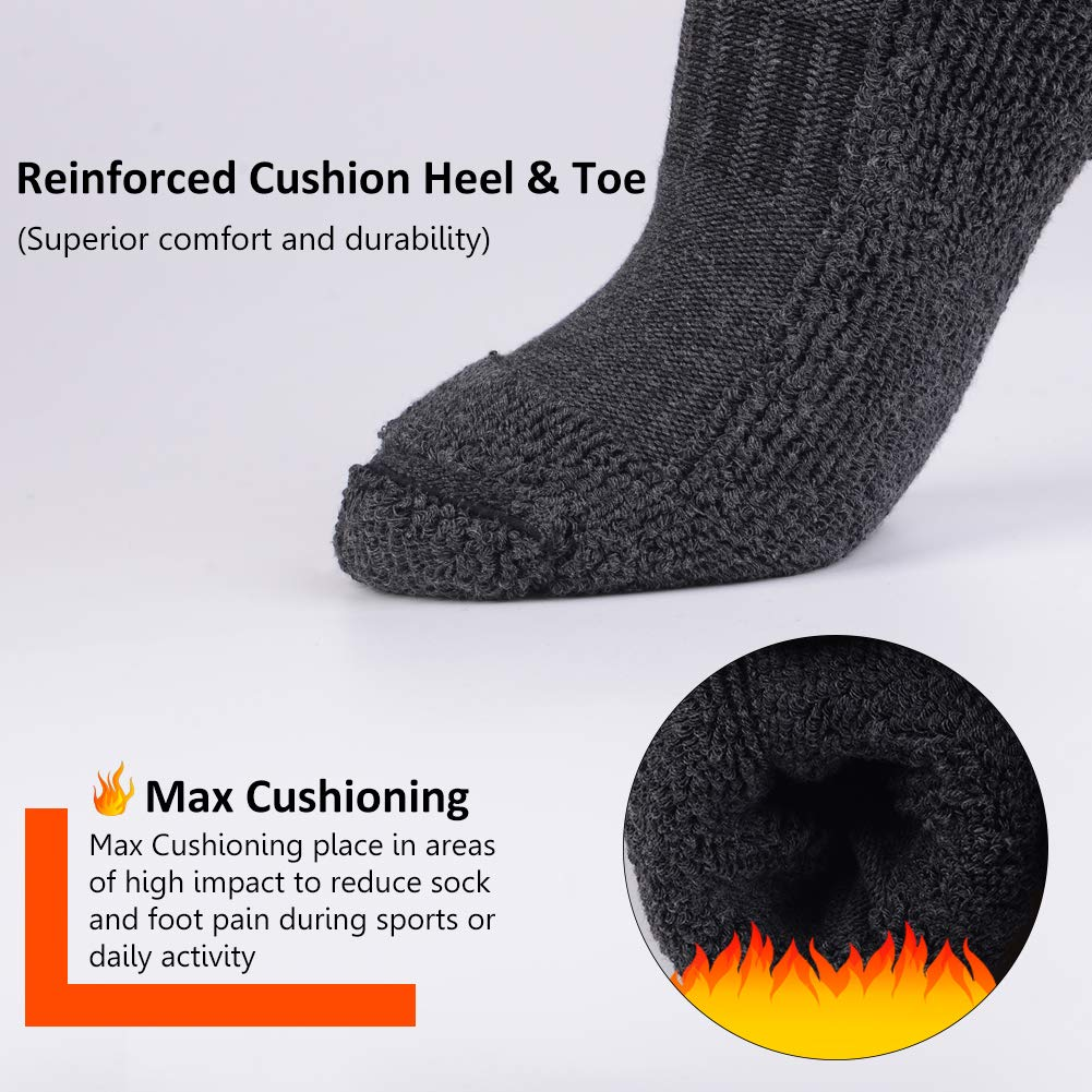 Men Thermal Socks with Ultra Warm and Heat Thick for Winter Cold Weather 4 pack