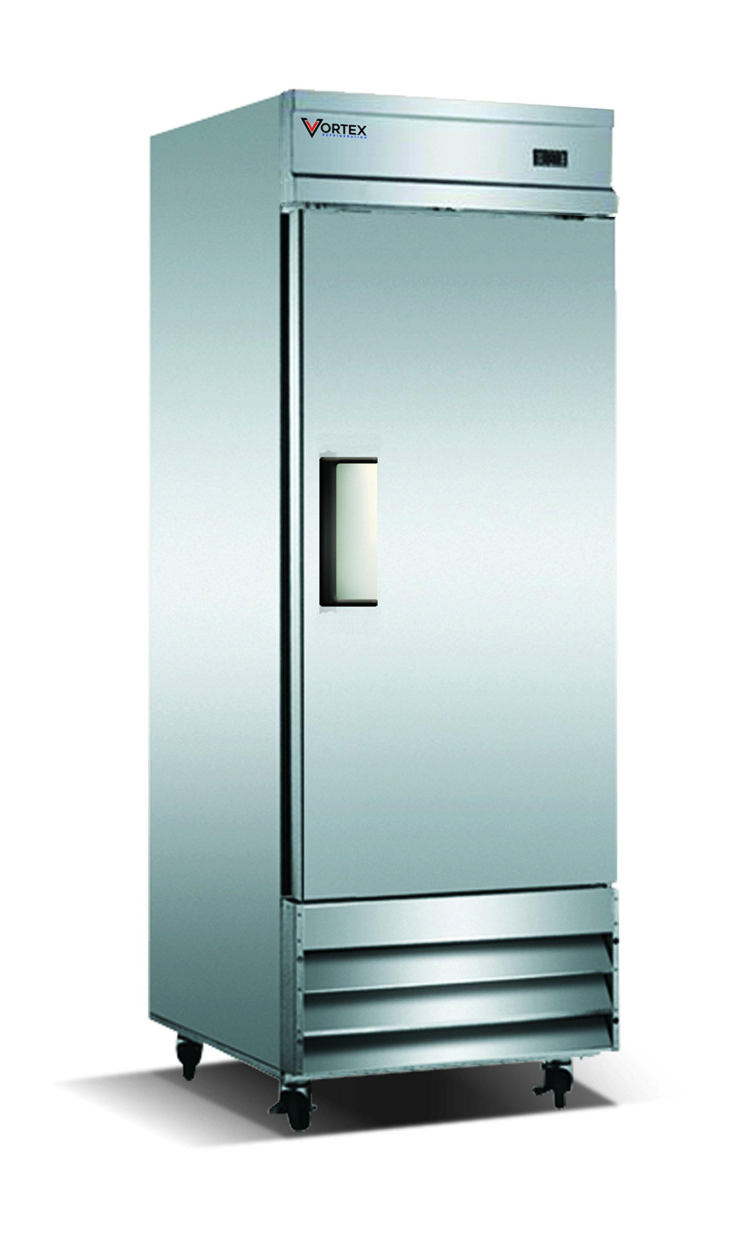 Vortex Refrigeration Commercial 1 Solid Door Freezer - 23 Cu. Ft.