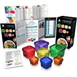 Portion Control Containers with Guide by Beachbody - BPA free - 7 Piece Kit