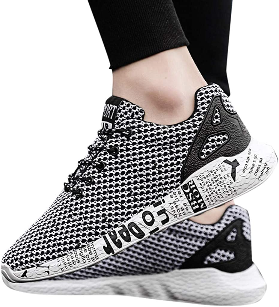 Lightweight Running Sneakers Men Mesh Breathable Casual Wild Sports Woven Shoes Traveling Gym Training Shoes