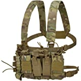 SIX-QU Tactical Chest Rig, Detachable Vest Molle Airsoft Chest Rig Set