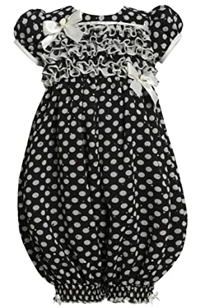 d045fbfb2a51 Ruffle Bodice Sparkle Dot Print Chiffon Romper Jumpsuit BW2HA Bonnie Jean  Todders Special Occasion Holiday