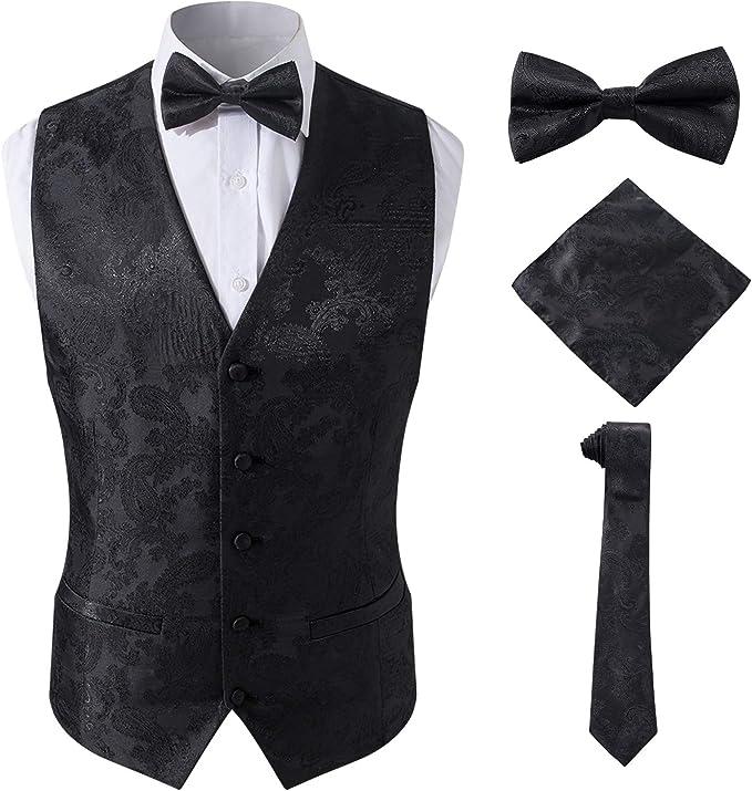 Amazon.com: SuiSional - Conjunto de chaleco y corbata para ...