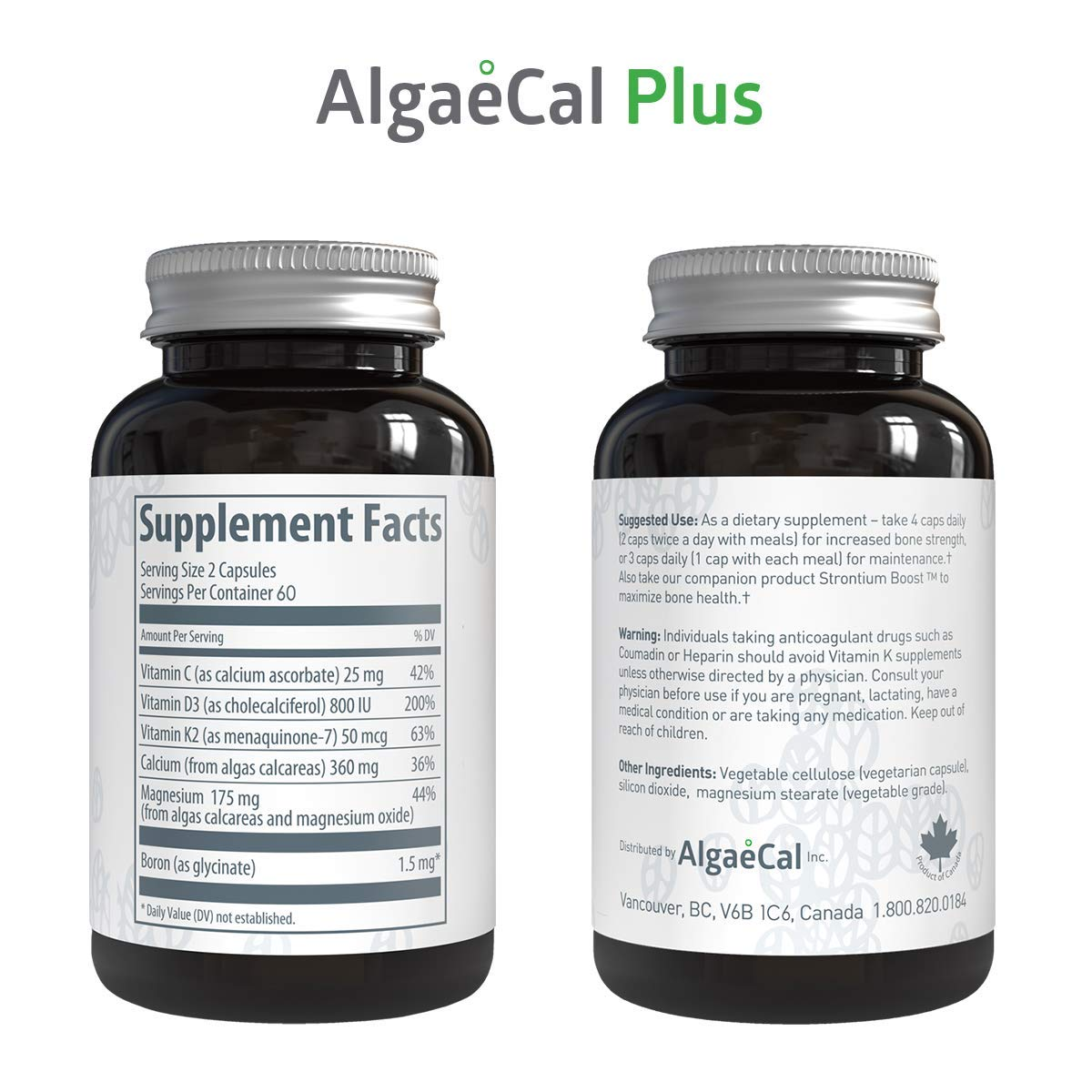 Phenomenal Algaecal Plus Natural Calcium Magnesium Vitamin K2 D3 Supplement Increase Bone Strength All Natural Ingredients Plant Based Dietary Pabps2019 Chair Design Images Pabps2019Com