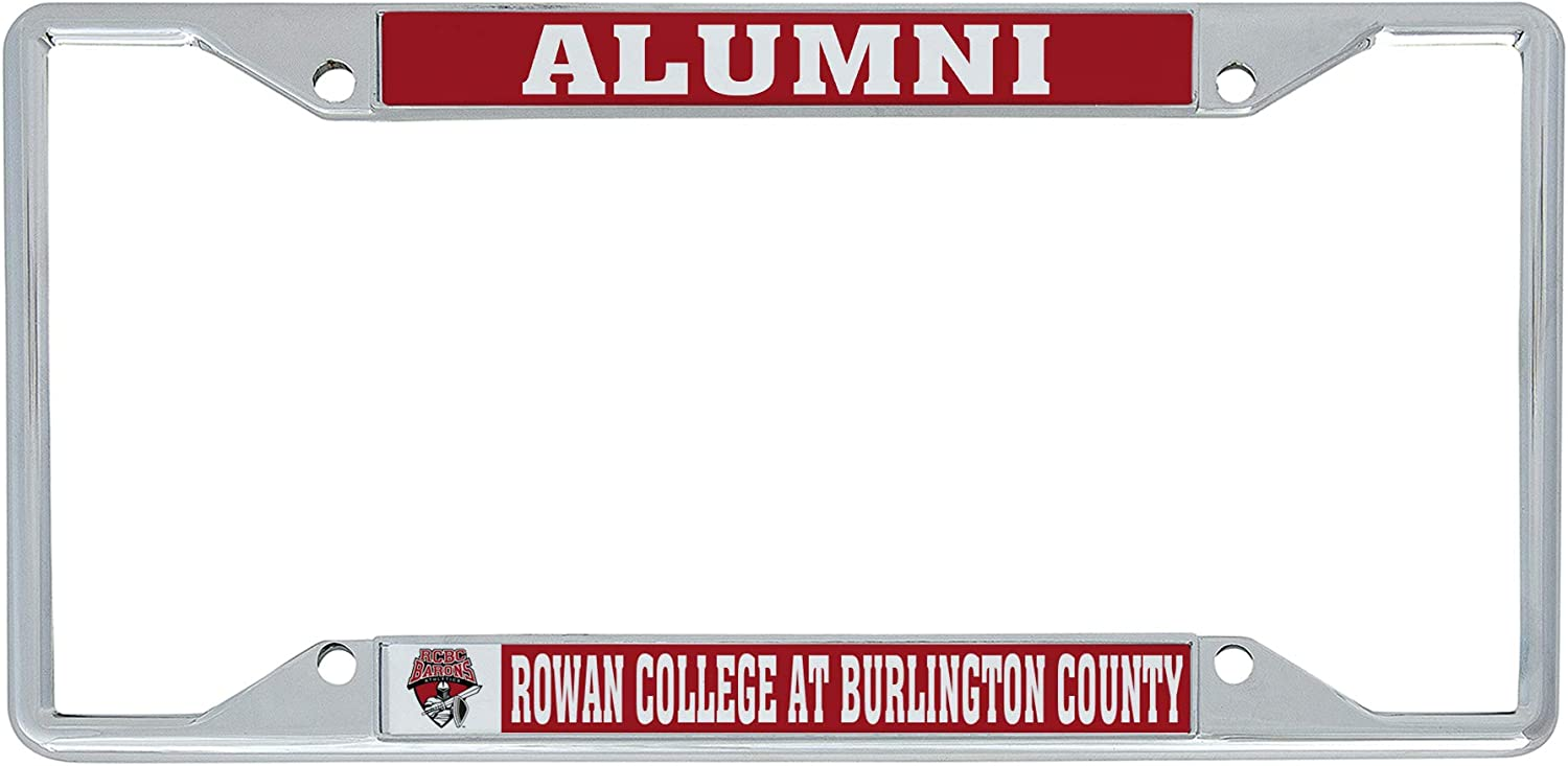 Desert Cactus Rowan College at Burlington County RCBC Barons NCAA Metal License Plate Frame for Front or Back of Car Officially Licensed Alumni
