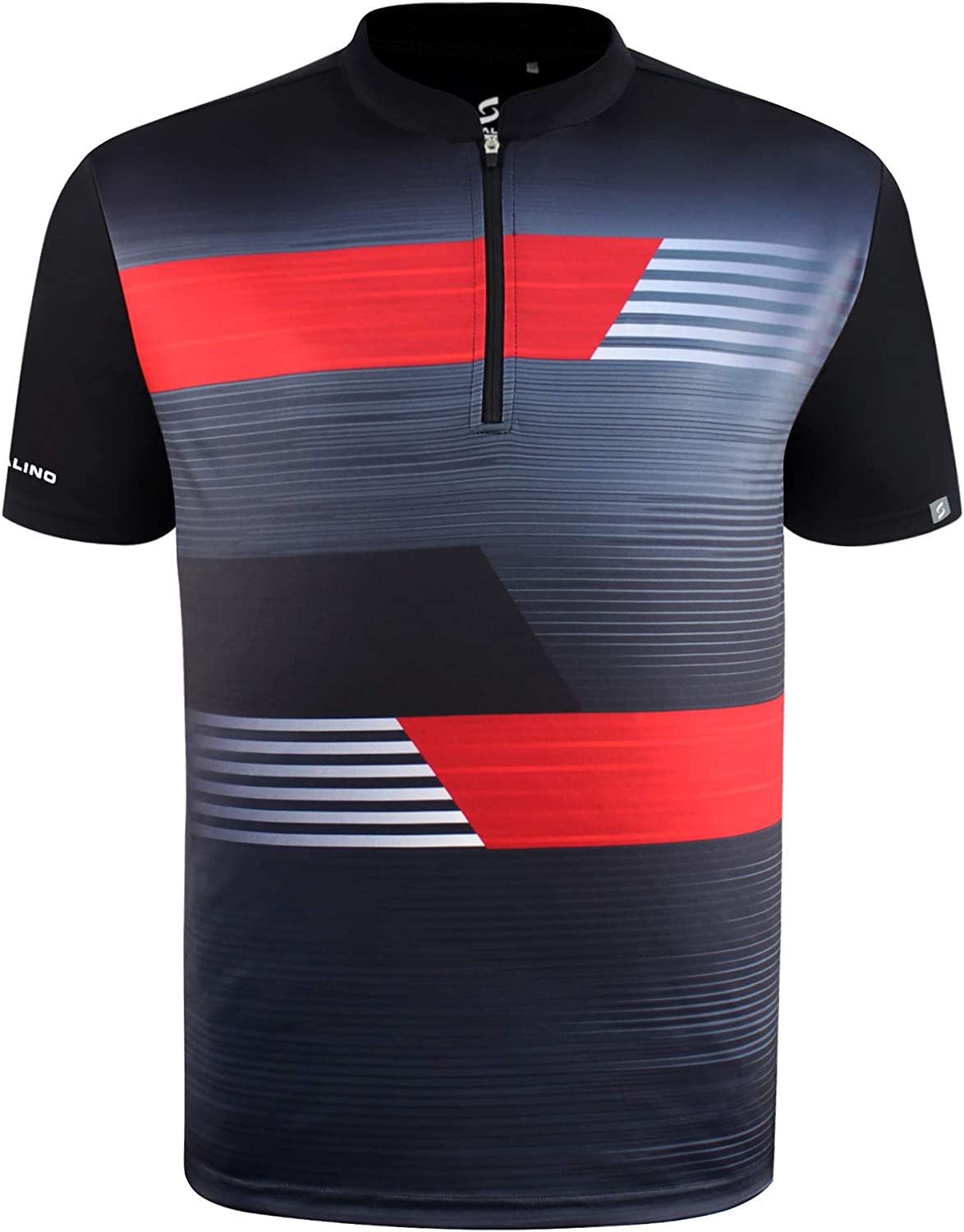 SAVALINO Men's Bowling Sublimation Printed Jersey, Material Wicks Sweat & Dries Fast, Size S-5XL
