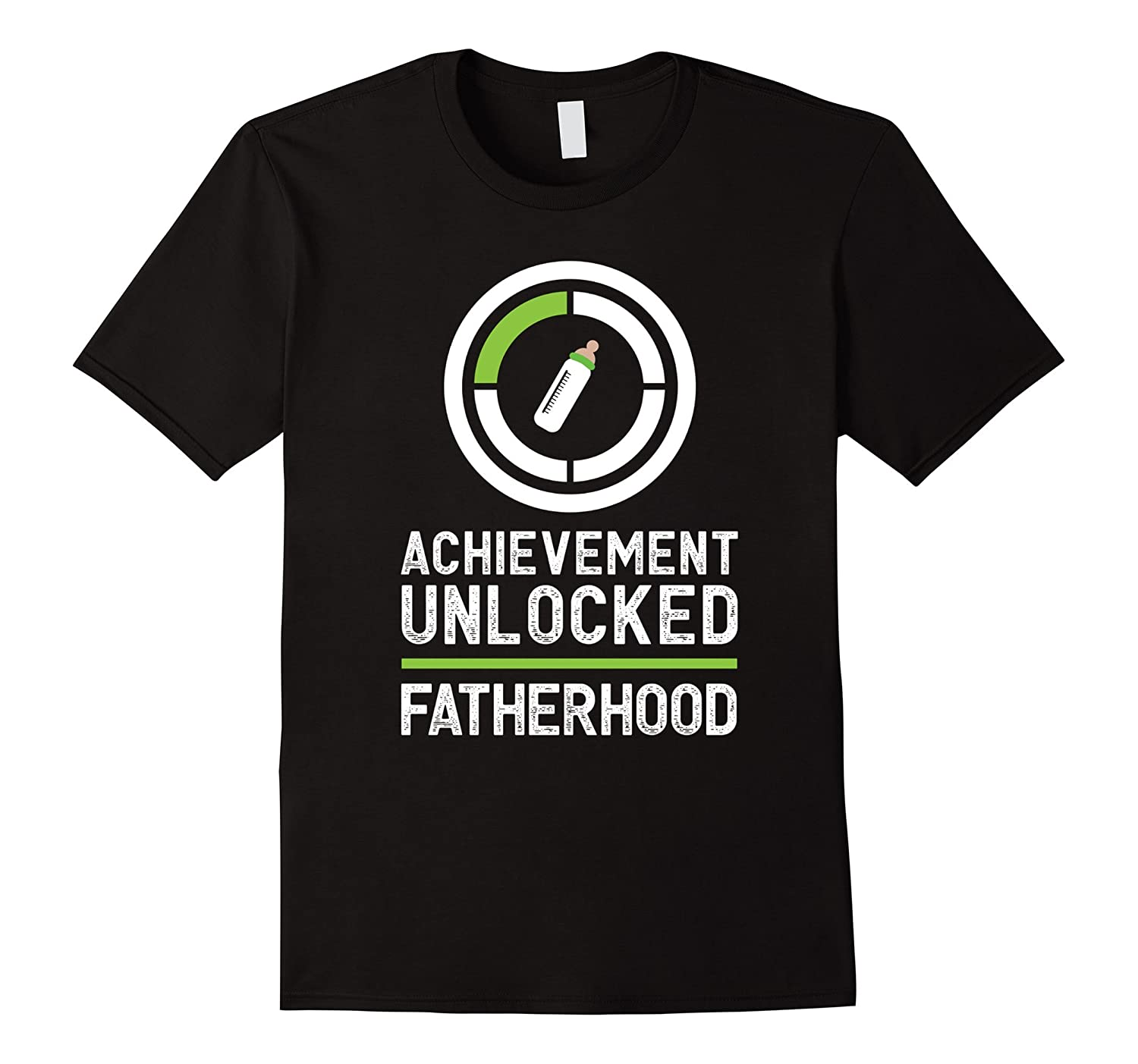 Mens Achievement Unlocked – Fatherhood Expecting Dad Gamer Tee