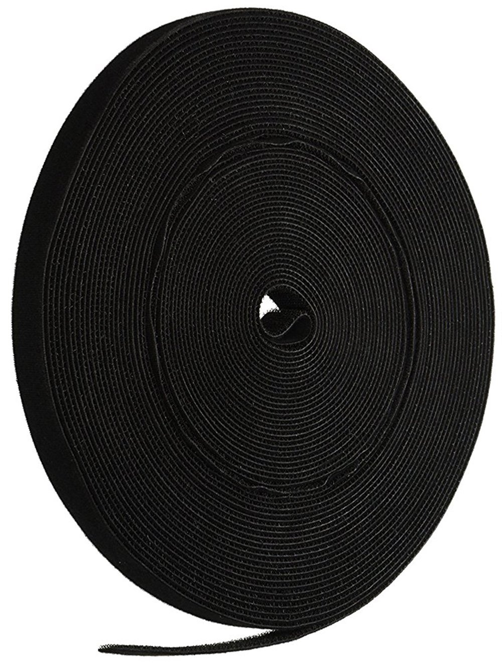 iMBAPrice Cable Fastening Tape - 0.75 inch Single Wrap Hook & Loop (75 feet) 25 Yards/Roll - Black