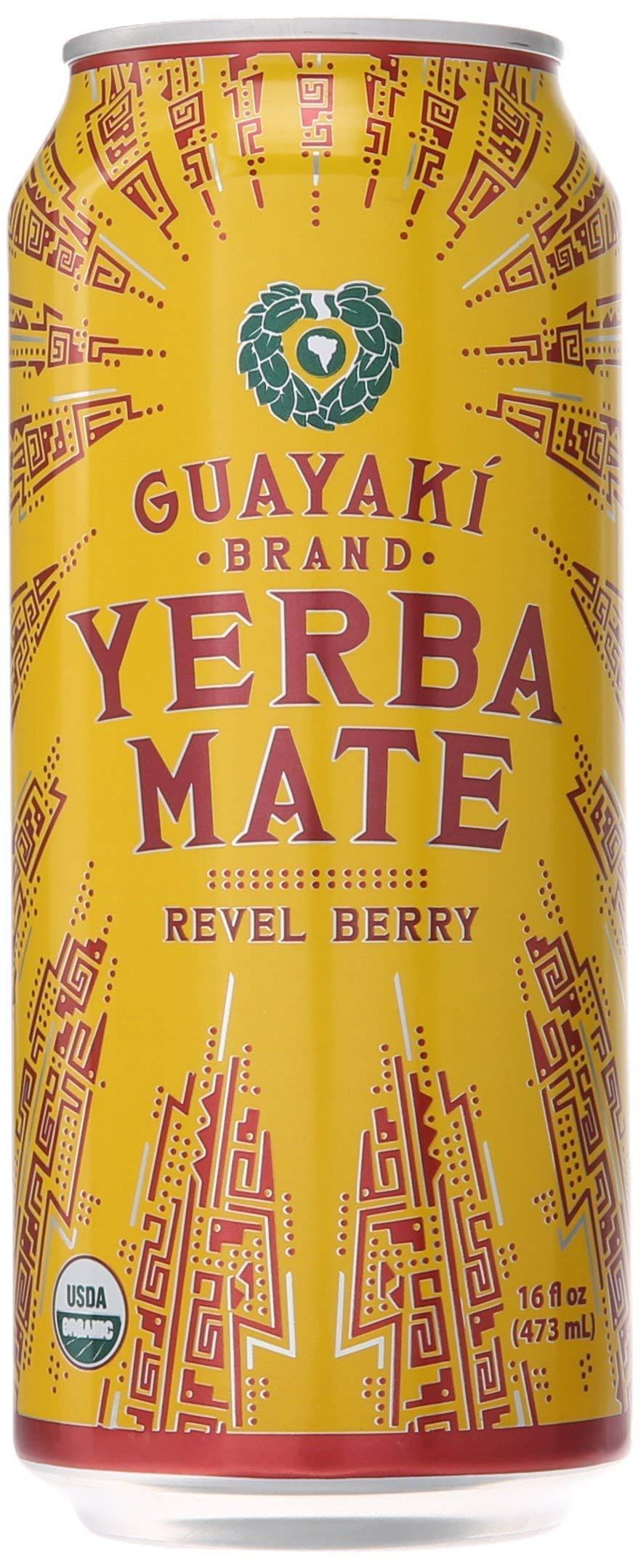 Guayaki, Yerba Mate Revel Berry organic, 15.5 Fl Oz