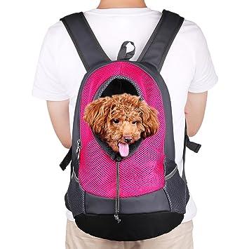 LiliChan Pet Dog gato portadores bolsa de viaje - malla transpirable portátiles front head out diseño