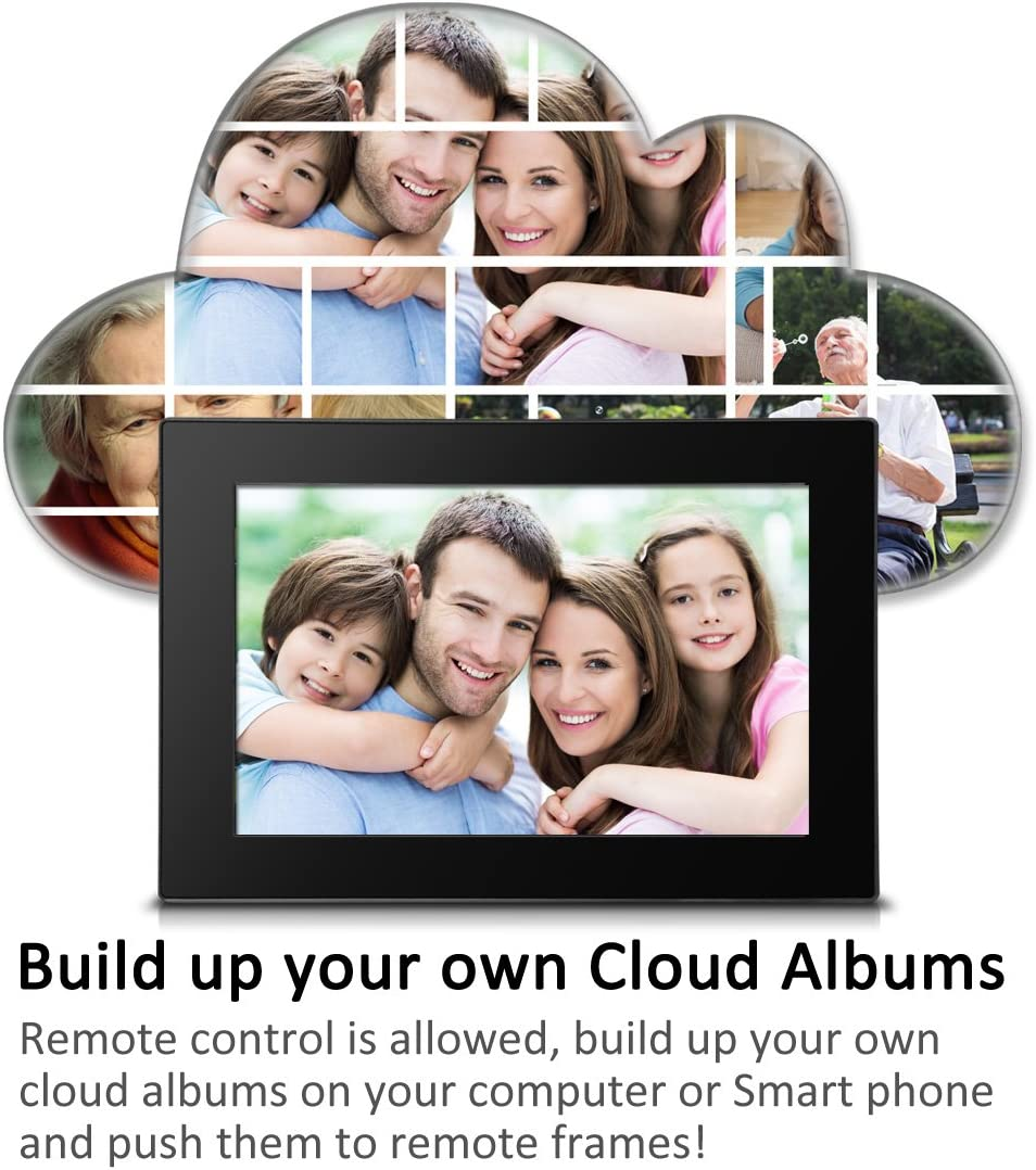 8G... Sungale CPF1051-10 inch WiFi Cloud Digital Photo Frame with Touch Panel