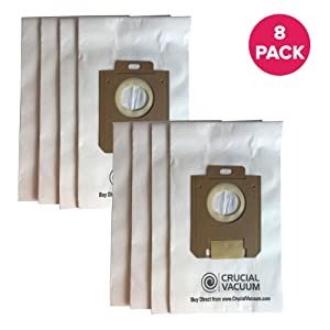 Think Crucial 8 Replacements for Electrolux & Eureka S & OX Paper Bags Fit Harmony Oxygen Vacuums, Compatible With Part # 61230, 61230a, 61230b & 61230c