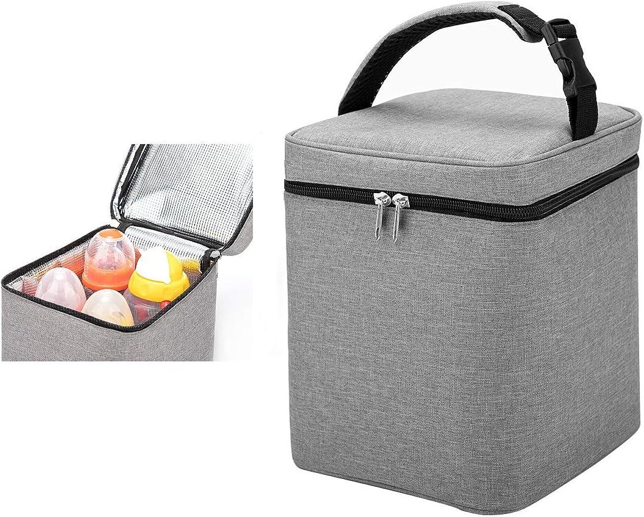 Breastmilk Cooler Bag, Baby Bottles Bag, Perfect for Nursing Mom Back to Work, (Bag ONLY)