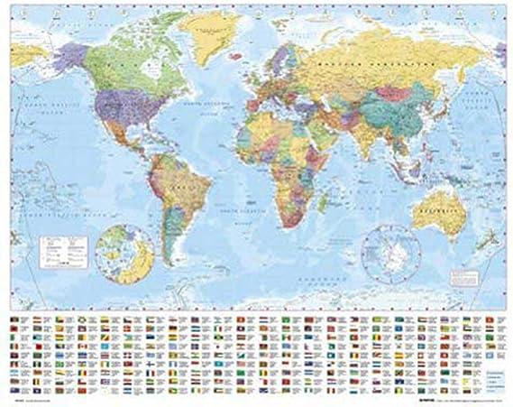 Empire 089700 - Póster con diseño de mapamundi (50 x 40 cm): Amazon.es: Hogar