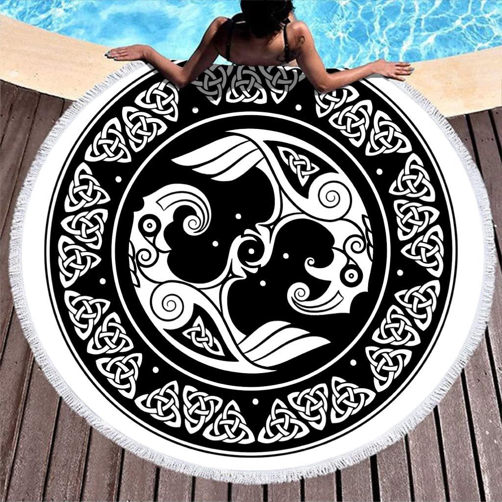 Negro y blanco cuervo vikingo Cartel escandinavo cuervos tatuaje ...