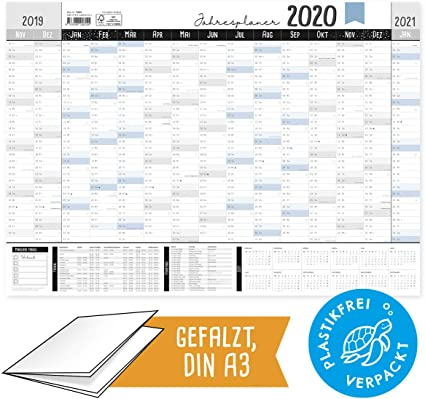 Calendrier Mural Grand Format 2021 Grand calendrier mural inscriptible 2020 DIN A3 19/20 au format