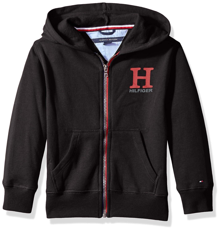 Tommy Hilfiger Boys Long Sleeve Matt Logo Zip Up Hoodie