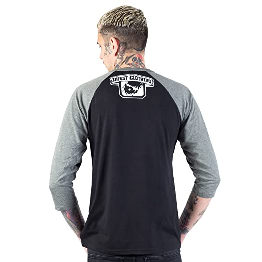 Infest Clothing Unisex Longsleeve Private Monk schwarz/grau (black/grey)  Groesse XL: Amazon.de: Bekleidung