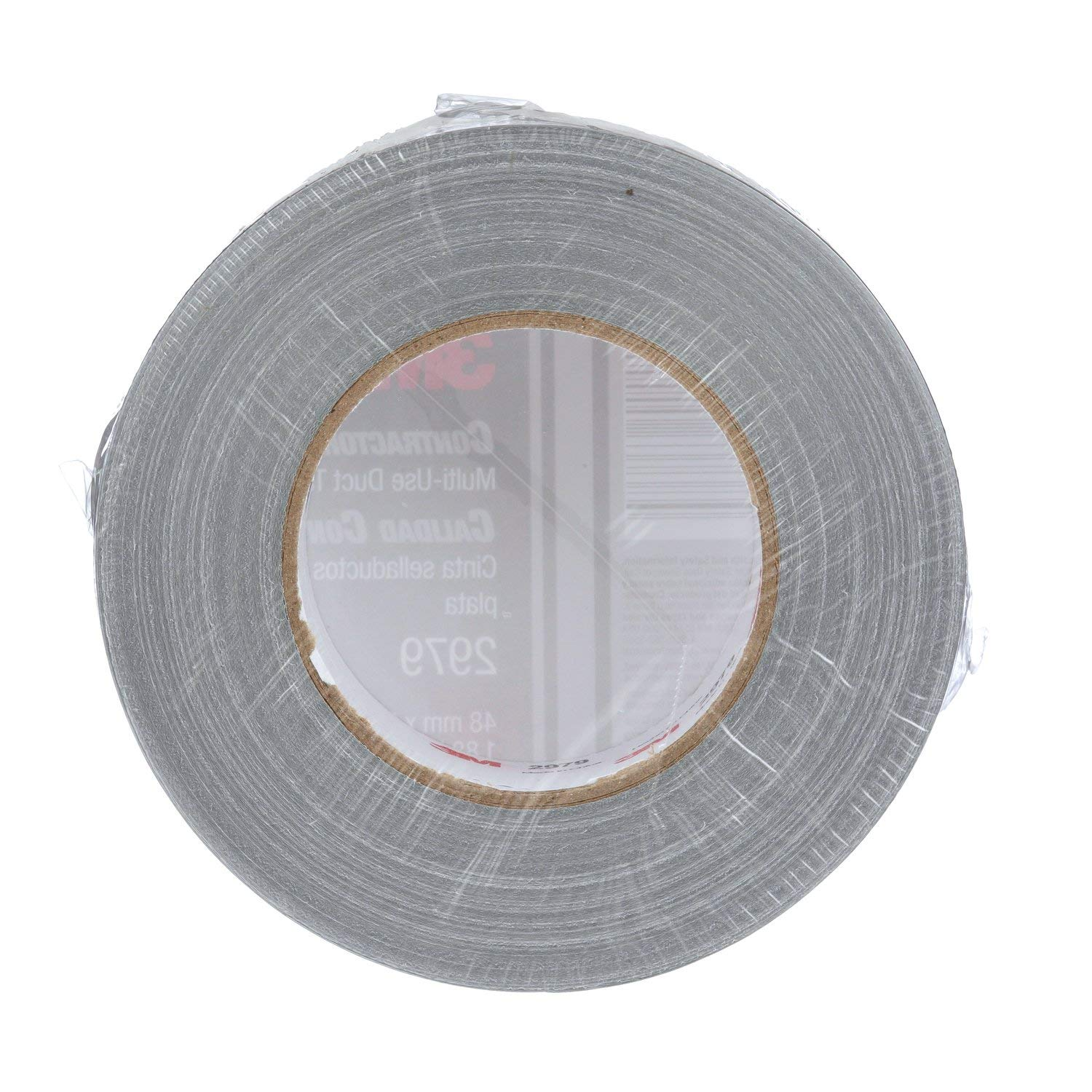 3M Contractor Grade Multi-Use Duct Tape 2979 Silver Conveniently Packaged Individually Wrapped 1.88 in x 60 yd 7.0 mil