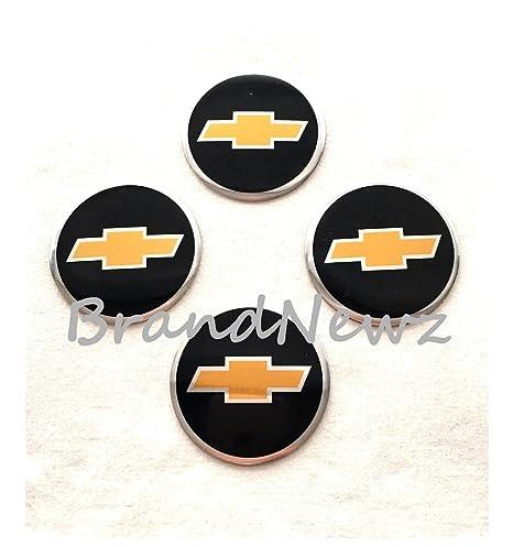 Chevrolet Emblema Rueda Centro Tapa Adhesivo Logotipo Tapacubos – 55 mm Cúpula Cúpula de – Juego