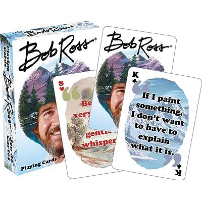 Aquarius Bob Ross Quotes Multi Image Playing Cards Deck: Aquarius: Toys & Games