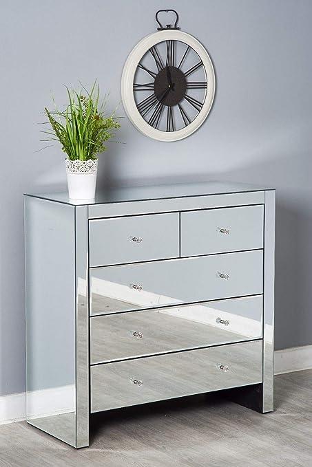 Furnituremaxi Specchio Set di mobili per Camera da Letto cassettiera ...